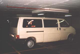 Tiska's Jeti van that takes LTR program up on the mountain