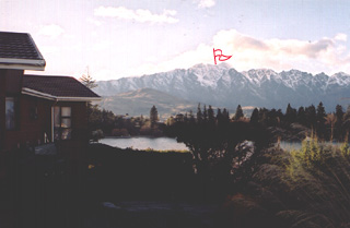 Remarkables: view to the top from my window