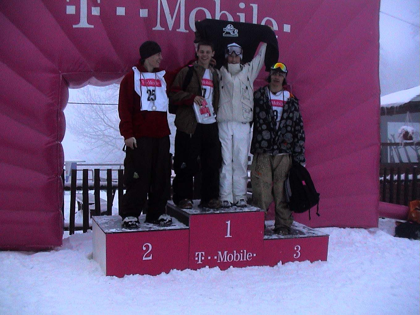 Tina with T-Mobile Snowboard Cup winners on Sljeme