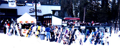The future of skiing as pictured at Sierra at Tahoe, Spring 1999
